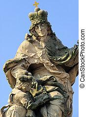 Charles Bridge statue 04