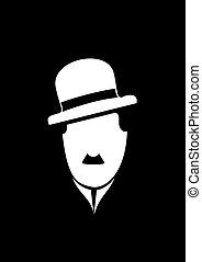 Charles Chaplin comedy vector symbol - Charles Chaplin...