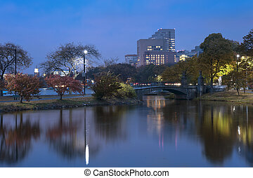 Charles river Boston on Autumn Afternoon