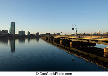 Charles River Bridge at Dawn