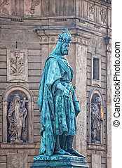 Charles statue in Prague