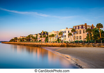 Charleston at the Battery - Charleston, South Carolina, USA...