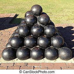 Charleston Cannon Ball Statue