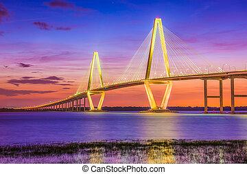 charleston, carolina del sur, estados unidos de américa, puente