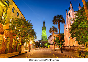 Charleston Cityscape - Charleston, South Carolina, USA on...