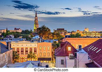 Charleston Cityscape - Charleston, South Carolina, USA town ...