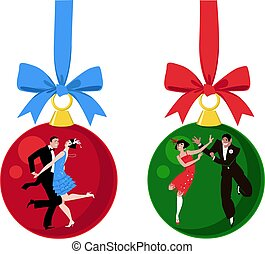 Charleston dancing Christmas ornaments