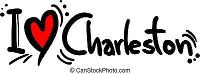 Creative design of charleston love