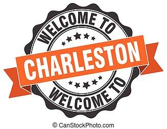 Charleston round ribbon seal