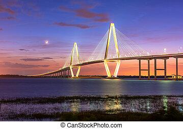 Charleston, South Carolina, USA at Arthur Ravenel Jr. Bridge