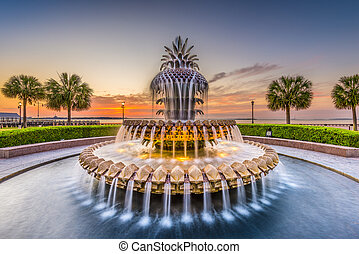 Charleston, South Carolina, USA at the Waterfront Park...
