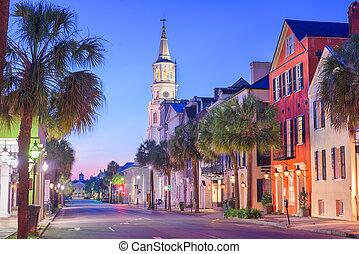 Charleston, South Carolina, USA in the French Quarter