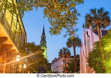 Charleston, South Carolina, USA view of the French Quarter