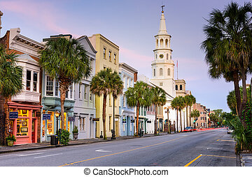 Charleston Street Scene - CHARLESTON, SOUTH CAROLINA - MAY...