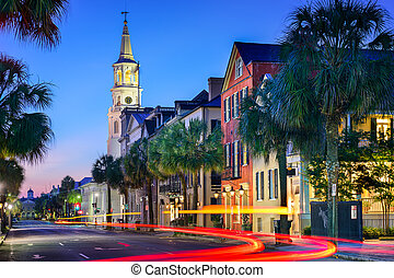 Charleston Townscape - Charleston, South Carolina, USA...