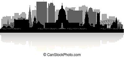 Charleston West Virginia city skyline silhouette -...