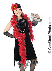 """Charleston without Shoes - A beautiful young teen """"flapper"""" ..."""
