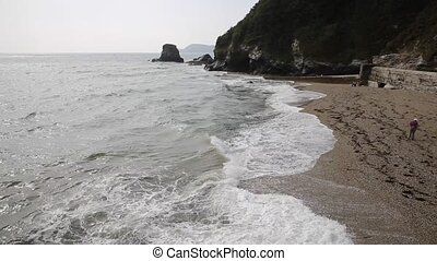 Charlestown beach near St Austell Cornwall England UK...