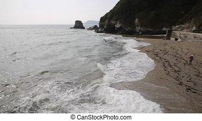 Charlestown beach near St Austell Cornwall England UK...