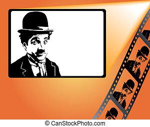 charlie, pantalla, piec, película