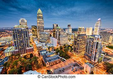 Charlotte Cityscape - Charlotte, North Carolina, USA uptown ...