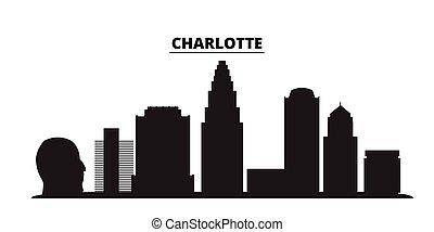 charlotte, estados, ciudad, aislado, unido, viaje, negro, ...