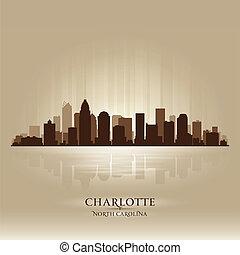 charlotte, nord, horizon ville, silhouette, caroline
