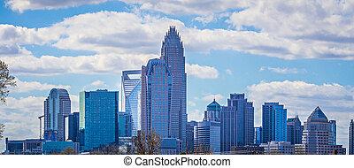 Durham North Carolina Usa Downtown City Skyline
