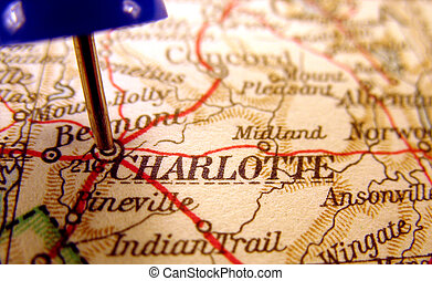Charlotte, North Carolina, the way we looked at it in 1949