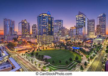 Charlotte, North Carolina, USA Uptown Skyline - Charlotte, ...