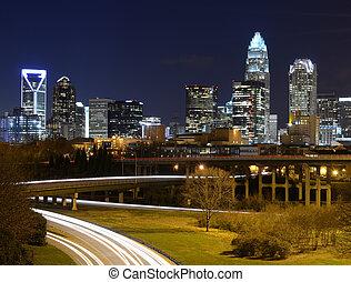 Charlotte Skyline - Skyline of uptown Charlotte, North...