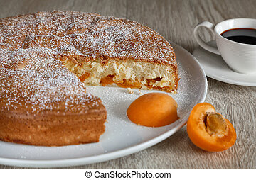Charlotte with apricots