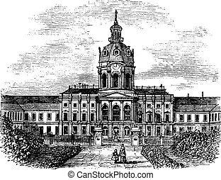 Charlottenburg Royal Palace, in Berlin, Germany, during the...