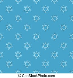 Charm bracelet pattern vector seamless blue