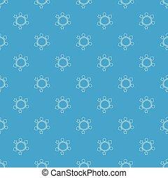 Charm bracelet pattern vector seamless blue