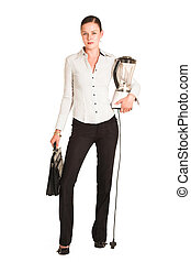 Charmaine Shoultz #21 - Business woman dressed in a white ...