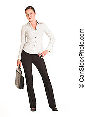 Charmaine Shoultz #27 - Business woman dressed in a white ...