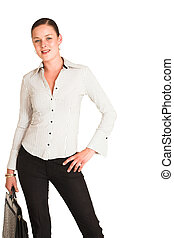 Charmaine Shoultz #30 - Business woman dressed in a white ...