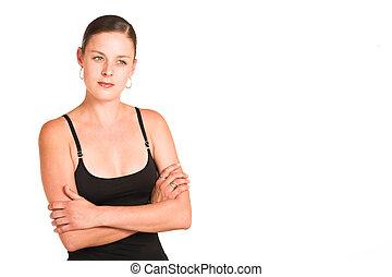 Charmaine Shoultz #42 - Business woman dressed in black top...
