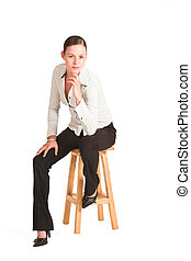 Charmaine Shoultz #42 - Business woman dressed in white ...