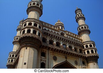 Charminar is a monument and mosque located in Hyderabad, Telangana, India.