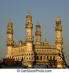 Charminar Side View - Side view of Charminar late in the day