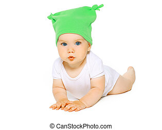 Charming baby in hat