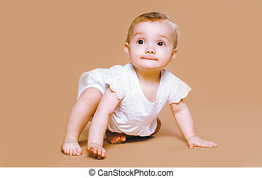 Charming baby playing