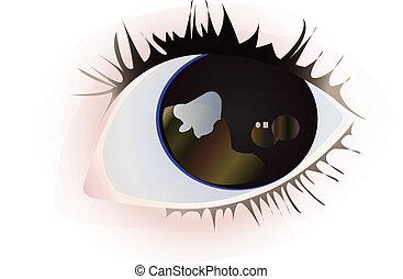 charming eye vector