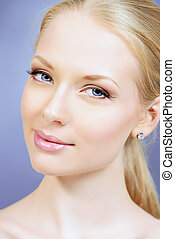charming face - Portrait of a beautiful young woman with...