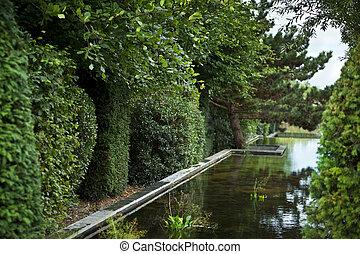 Charming garden in a park