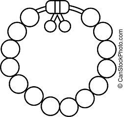 Charming gemstone bracelet icon. Outline illustration of charming gemstone bracelet vector icon for web design isolated on white background