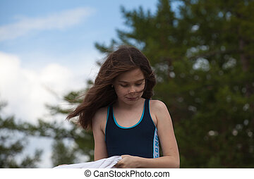 Charming long-haired girl