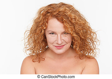 Charming mature woman - Portrait of charming mature...